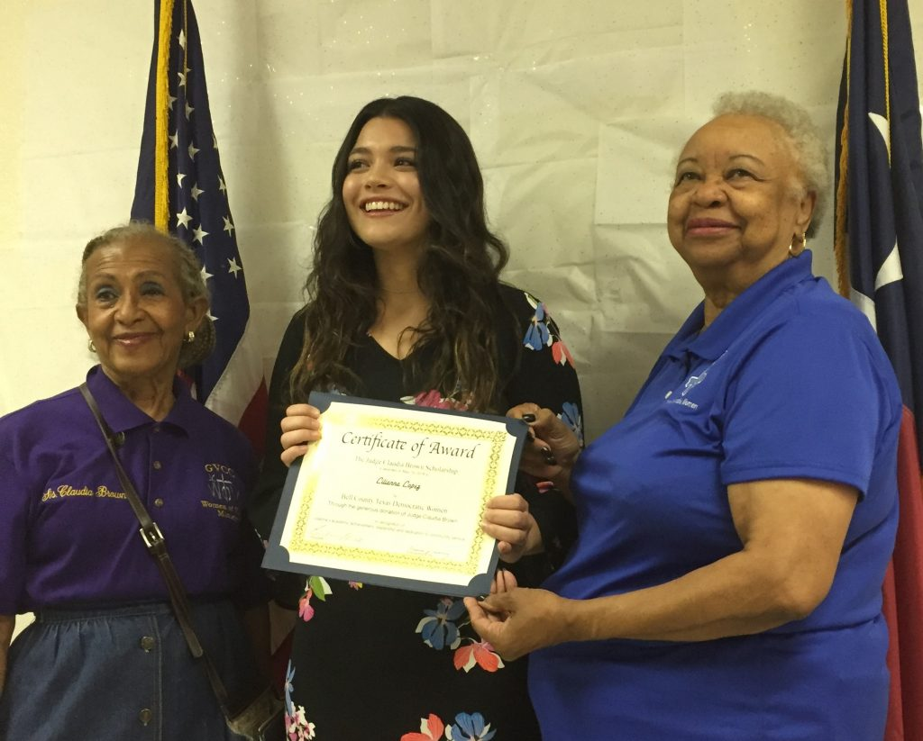 BCTDW 2018 Scholarship Winner, Justice of the Peace Claudia Brown Scholarship